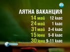 Пет ваканции очакват учениците след този 15 септември