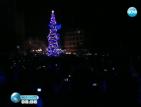 Коледна елха грейна в Благоевград