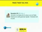 Папата пусна за пръв път съобщение в Туитър