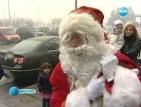 Дядо Коледа смени шейната и елените с хеликоптер