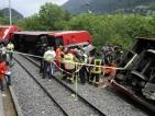 Над 30 ранени при сблъсък на два влака в Швейцария