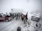 Сняг и вятър блокираха Унгария