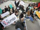 Нов студентски протест блокира булеварда пред УНСС