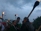 Протести белязаха деня на вота, факли горят пред НДК