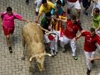 Много ранени по време на гонитба с бикове в Памплона