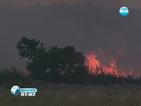 Локализираха огъня в Свиленградско, но пламна нов край село Райново
