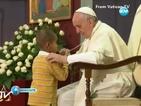 6-годишно дете зае мястото на папата