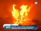 Над 40 горски пожара горят край чилийската столица Сантяго