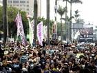 Тайвански работници излязоха на шествие срещу ниското заплащане