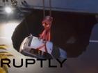Огромна дупка погълна кола в Италия