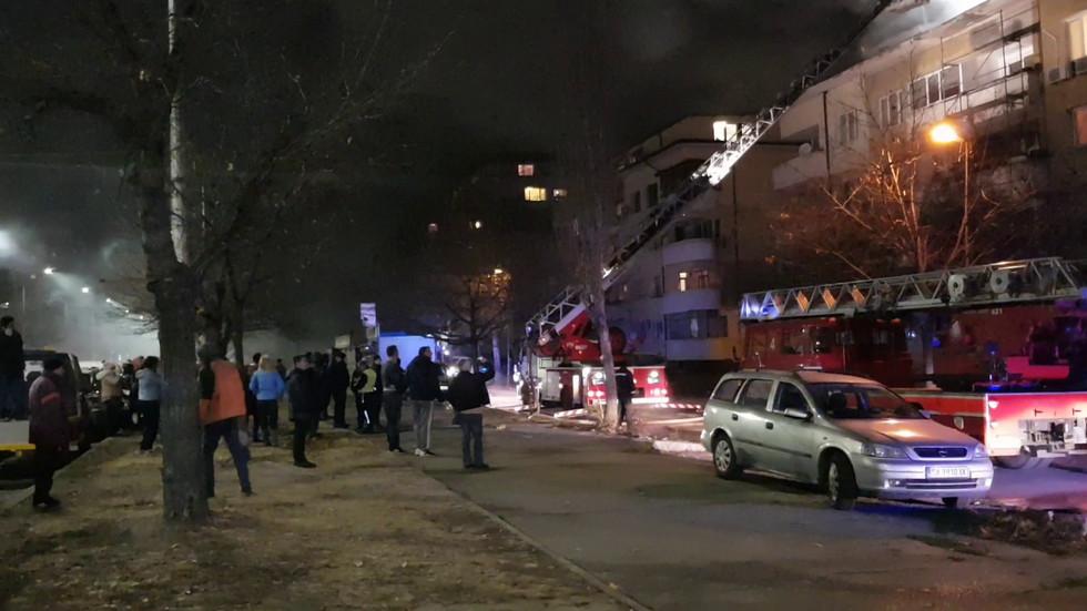 """Пожар в квартал """"Илинден"""""""