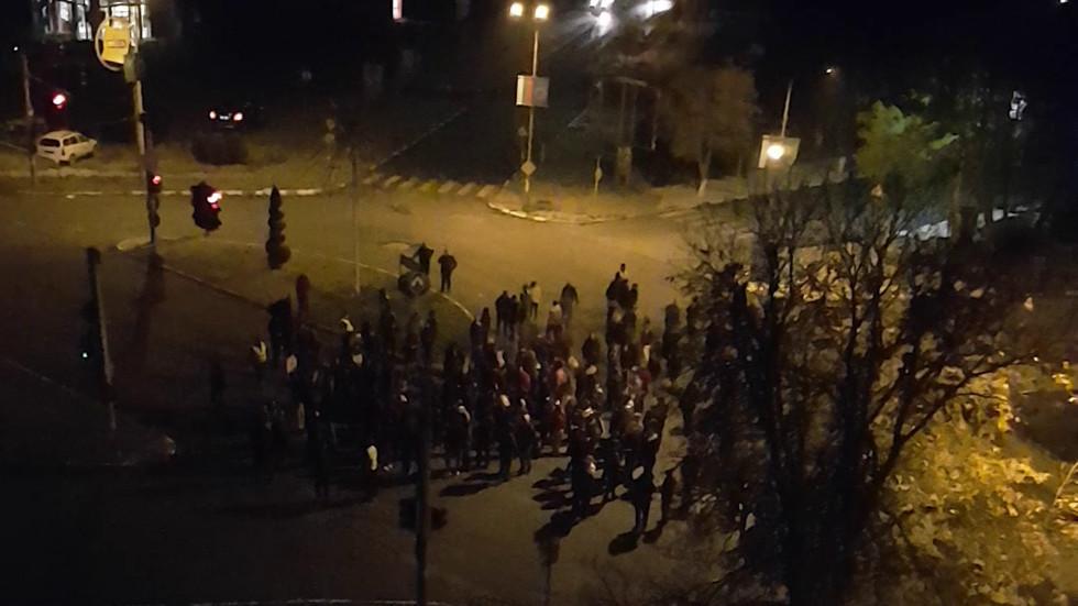 Протест в Нова Загора