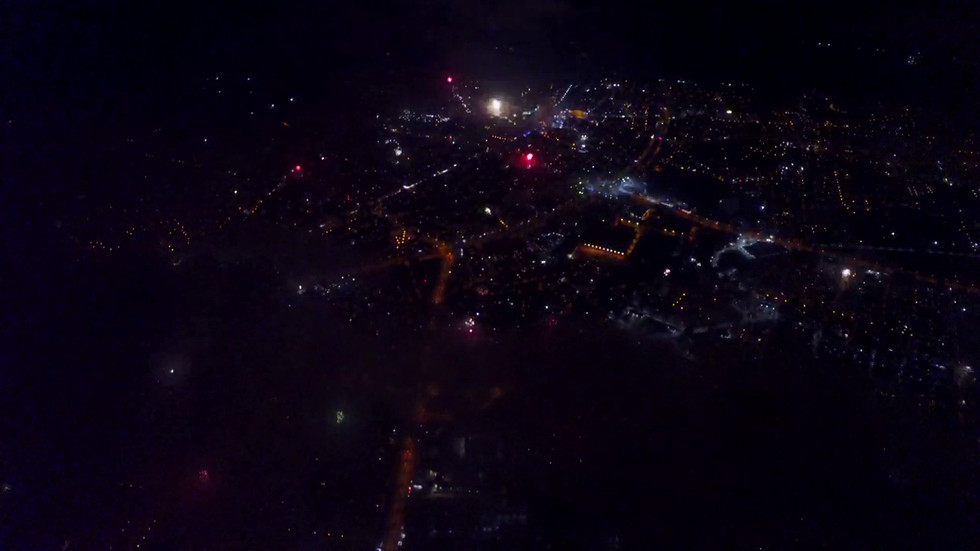 Нова Година в Русе, заснета с дрон
