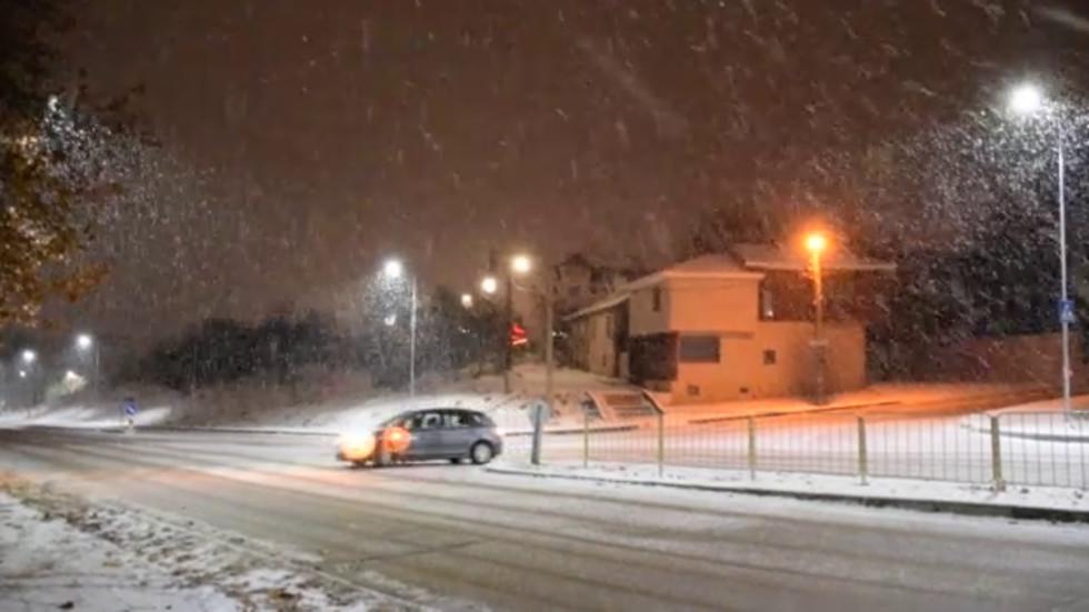 Много красиво вали сняг в Разград!