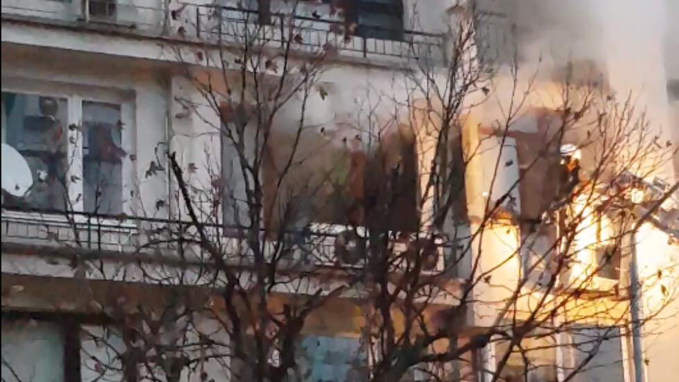 Пожар в жилищна сграда в Пловдив