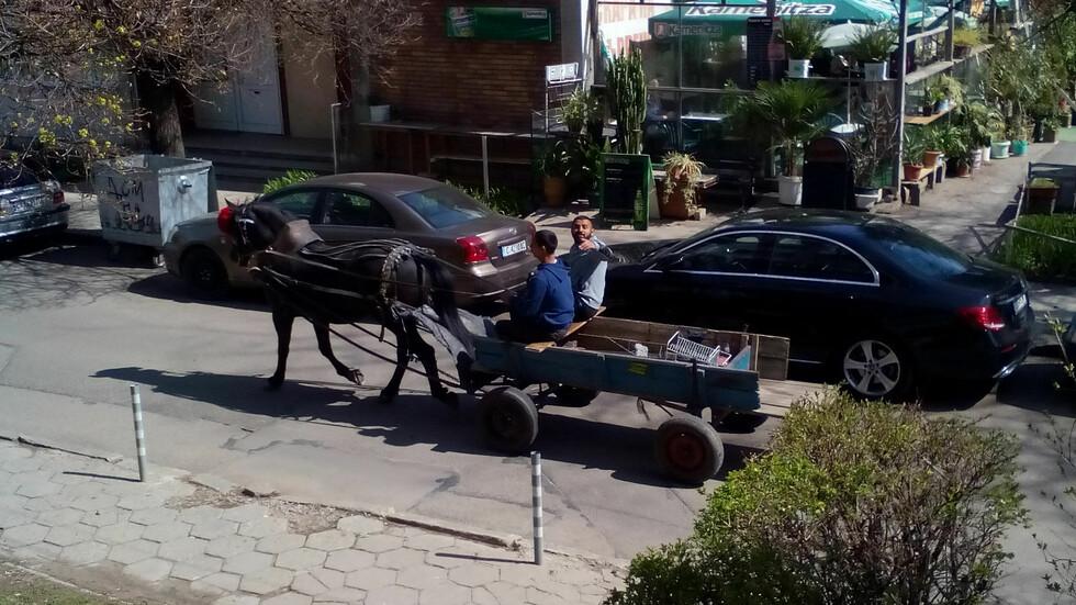Каруци в центъра на София