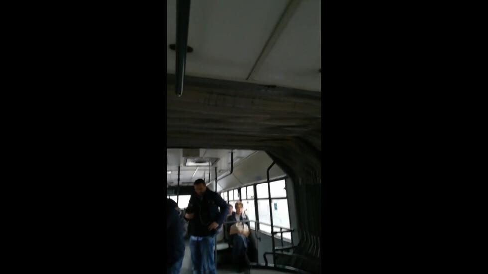 При дъжд водата си влиза в автобуса