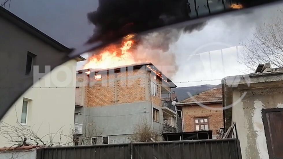 Пожар в село Лозен
