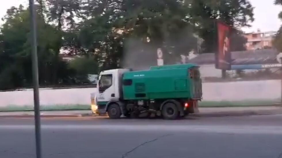 Как се чистят улиците в Пловдив