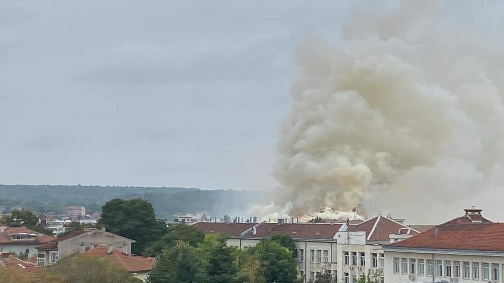 Пожар Медицински университет Плевен