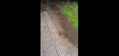 Ужасен тротоар в столичен квартал от години
