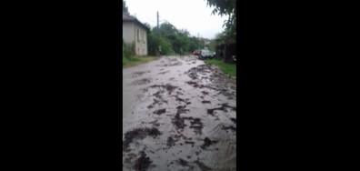 Наводнена улица в Априлци