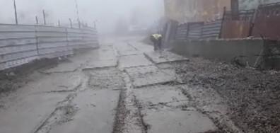 Нов булевард,ново строителство,нова река от кал и много чиста София