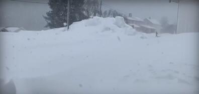 Снежна виелица в Норвегия