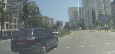 Нагло на червен светофар
