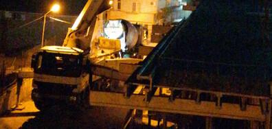 Изливане на бетон до сутринта