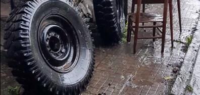 Проливен дъжд в село Говедарци