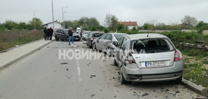 Младо момиче с джип удари 10 паркирани коли и избяга (ВИДЕО+СНИМКИ)