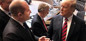 Радев и Тръмп разговаряха в Брюксел (СНИМКА)
