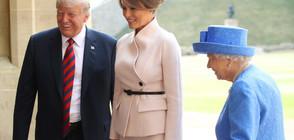 Мелания Тръмп – стилна на чай с кралицата и на шотландска земя (ГАЛЕРИЯ)