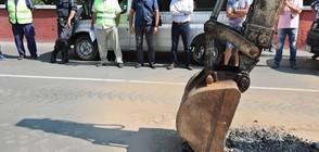 Вземат проби от асфалта на пътя София – Своге (ВИДЕО+СНИМКИ)