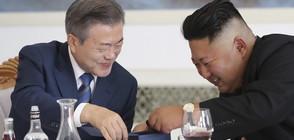 ЗАТОПЛЯНЕТО ПРОДЪЛЖАВА: Лидерите на двете Кореи говориха пред многохилядна публика