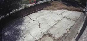 ЗАПИС ОТ КАМЕРИ: Предполагаемият убиец на Виктория бяга от местопрестъплението