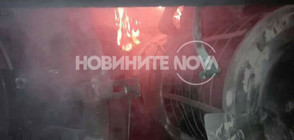 Локомотив се запали на гара Горна Оряховица (ВИДЕО+СНИМКИ)