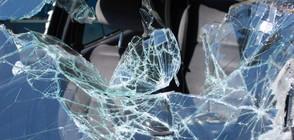 Тир аварира край Казичене, шофьорът е в тежко състояние (ВИДЕО)