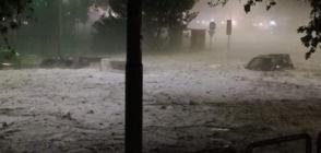 ЛЕДЕНИ БЛОКОВЕ В РИМ: Дъжд и градушка наводниха града (ВИДЕО)