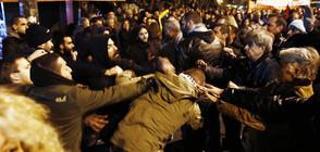 """Анархисти хвърляха коктейли """"Молотов"""" по полицията в Атина (СНИМКИ)"""