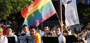 Многолюдни шествия за равенство в браковете се проведоха в Тайван