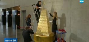В Мюнхен направиха коледно дръвче от злато (ВИДЕО)