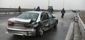 ВЕРИЖНА КАТАСТРОФА: 21 коли се удариха в София (ВИДЕО+СНИМКИ)