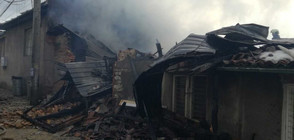 """Пожар изпепели няколко къщи във """"Вароша"""" на Велико Търново (ВИДЕО+СНИМКИ)"""