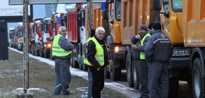 """СТРОИТЕЛИ СРЕЩУ ОПОЗИЦИЯ: Стотици камиони на """"Цариградско шосе"""" заради отношението към бранша (ОБЗОР)"""