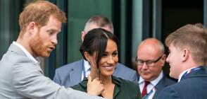 """Момиченце очарова принц Хари с табела """"Червенокоси, обединявайте се!"""" (ВИДЕО)"""