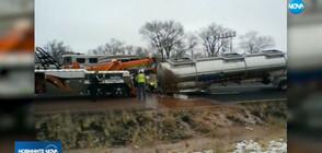 Камион с течен шоколад се обърна на магистрала в САЩ (ВИДЕО)