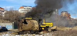 Пожар в Благоевград: Горяха две цистерни за гориво, рязани за скрап (СНИМКИ)