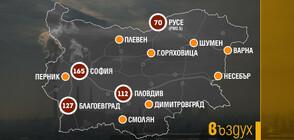 Мръсен въздух в 12 града у нас